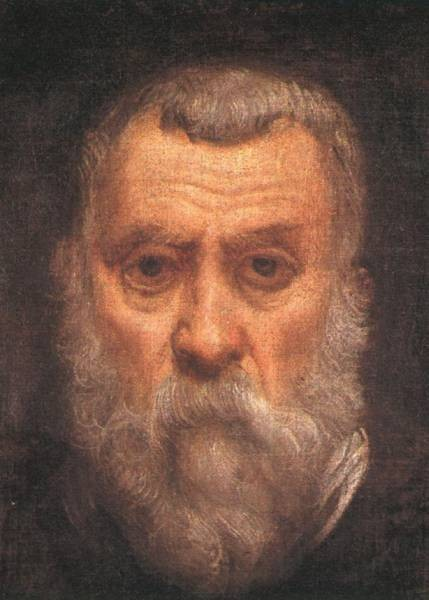 Tintoretto Self portrait detail1